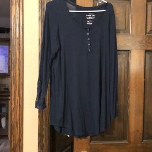 Torrid Long Sleeve w/ Lace Shirt Size 0